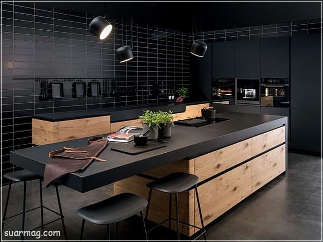 اشكال مطابخ خشب 16   wood kitchens shapes 16