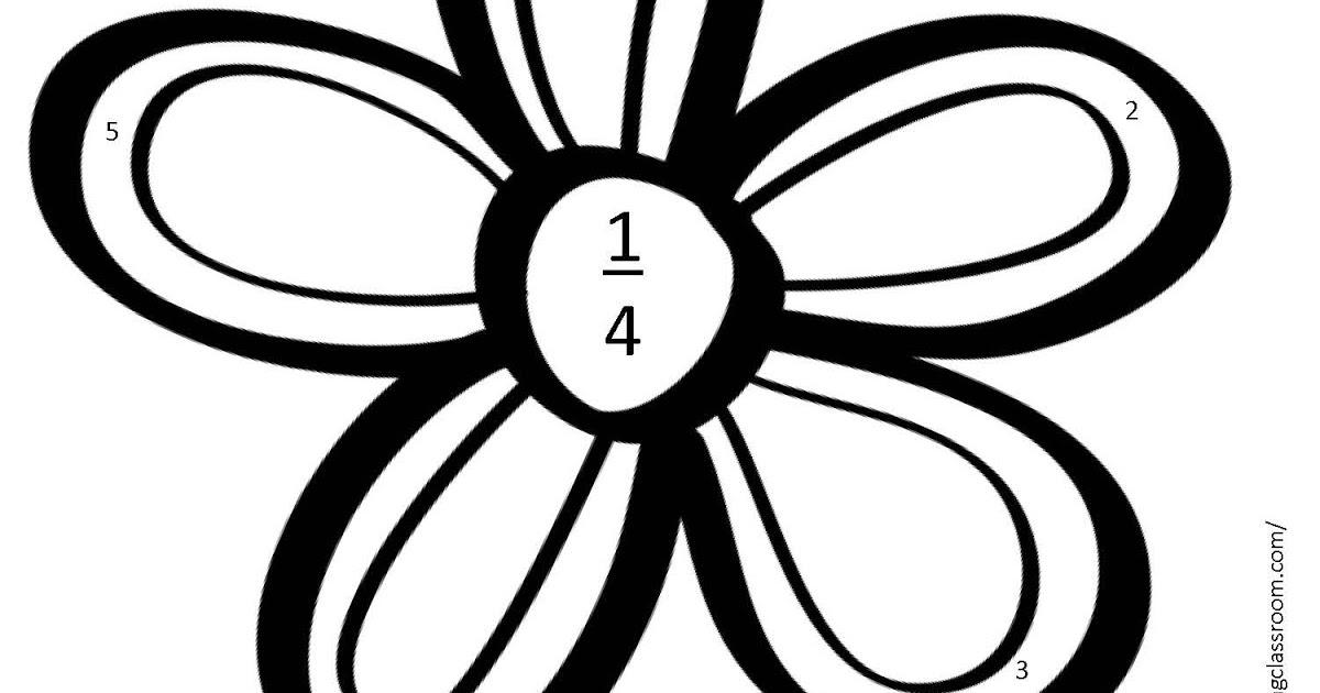 Classroom Freebies Too: Fraction Flower Freebie