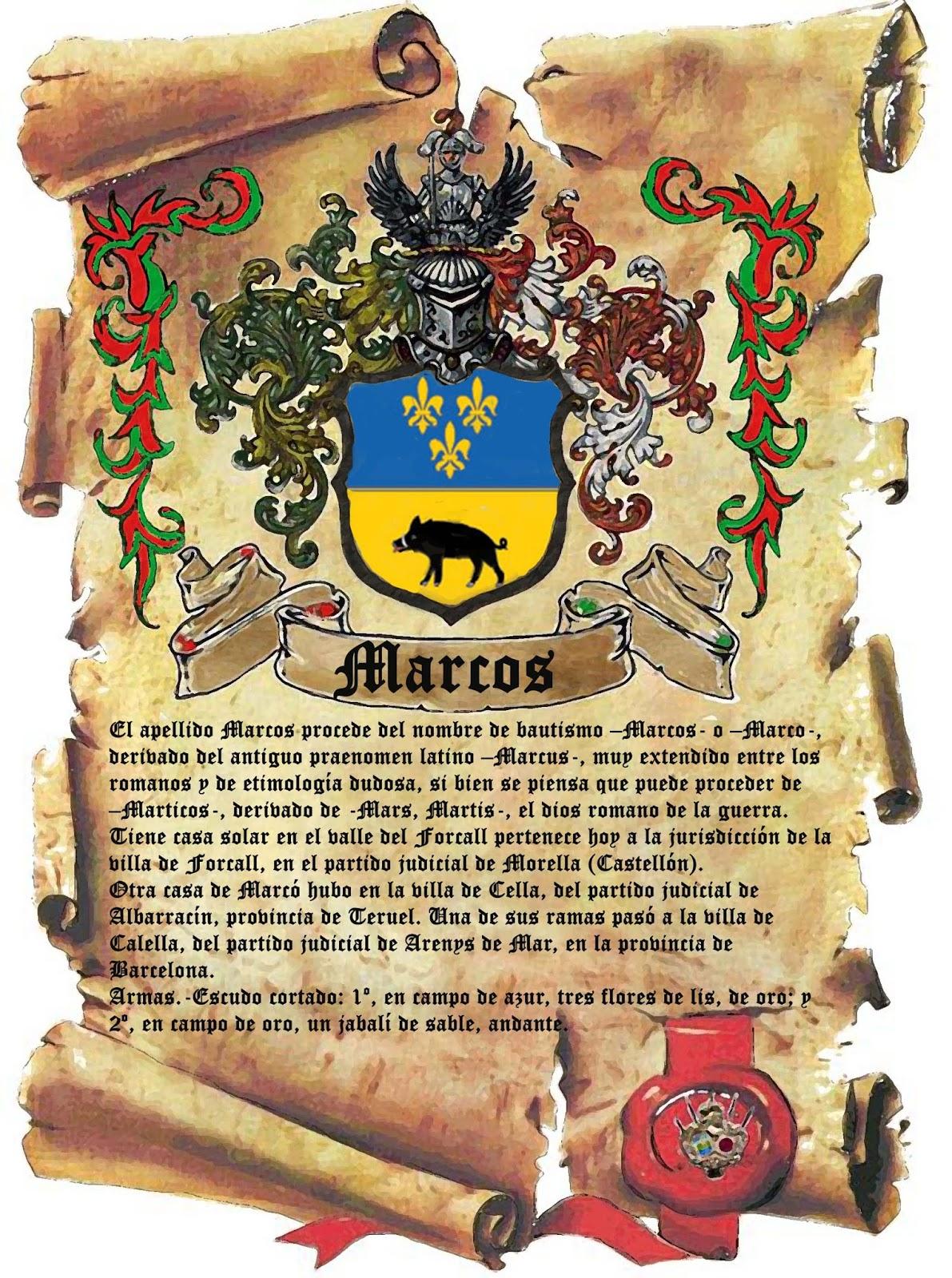 apellidolandia: Escudo cuadro García Marcos