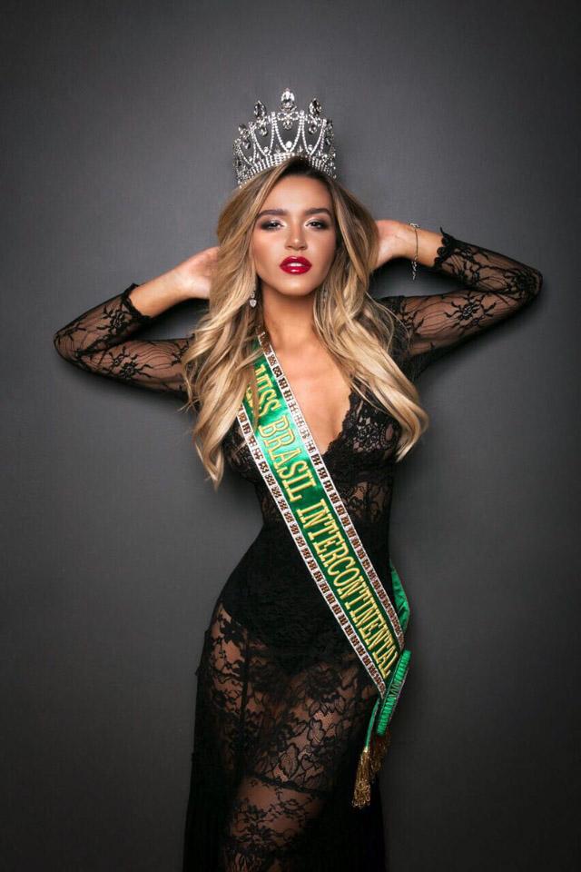 Amanda Cardoso, Miss Brasil Intercontinental 2017. Foto: Alinne Volpato e Matheus Bastos/Renato Cipriano - Divulgação