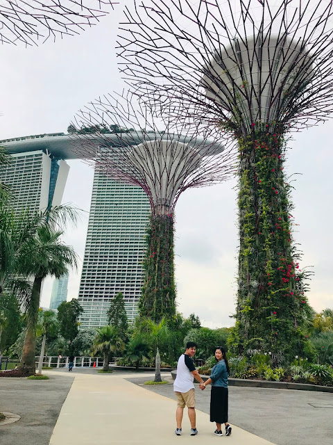 Dad and I at Gardens by the Bay Singapore