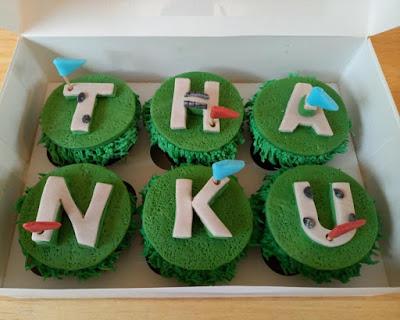 Mini Golf cupcakes