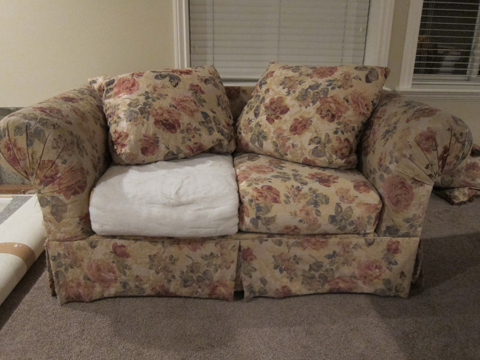 Big Sofa Back Cushions Do It Yourself Divas Diy Strip Fabric From A Couch And Reupholster It
