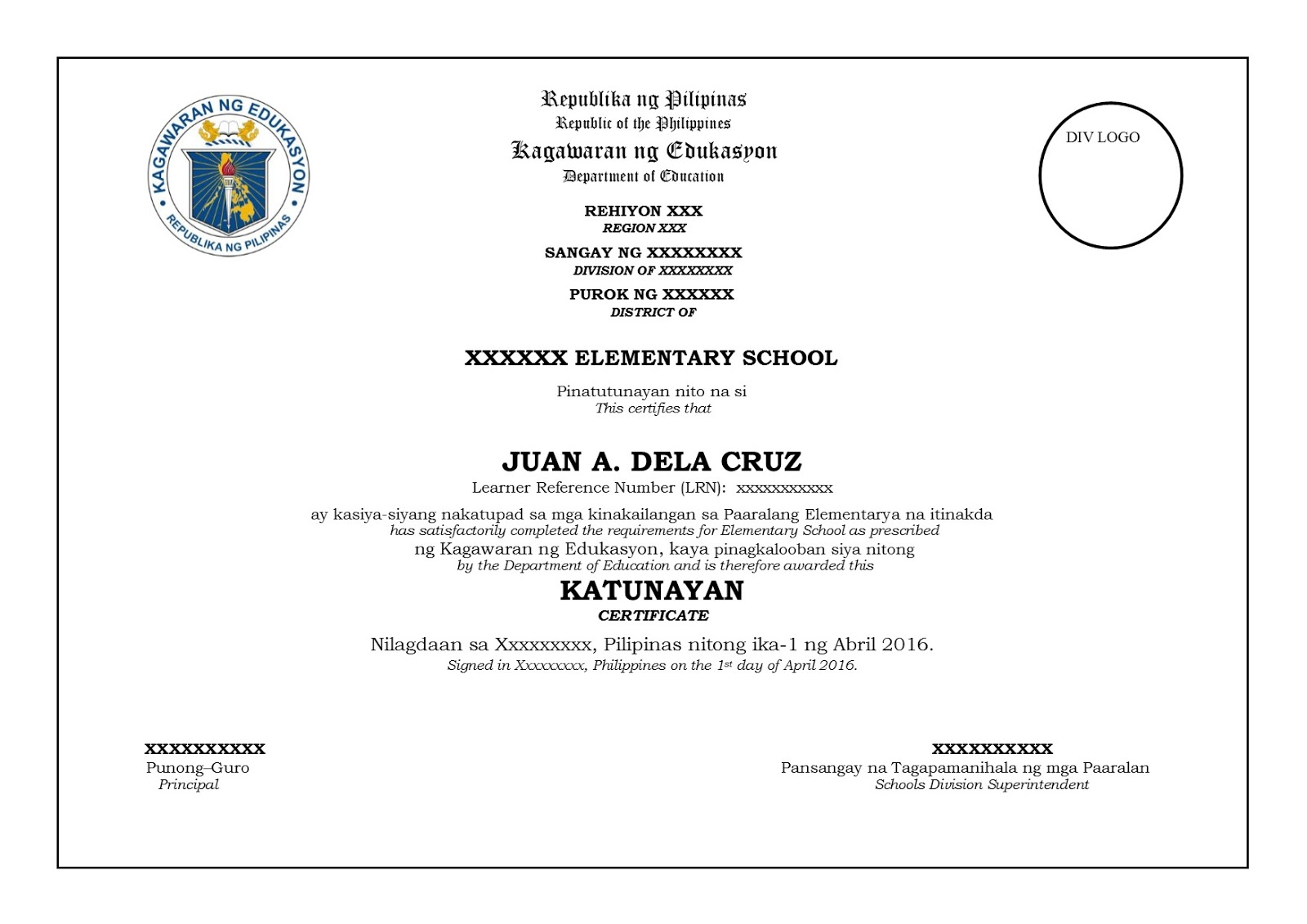 final and official sample template for grade 6 and grade saveenlarge sample certificate sa buwan ng wika