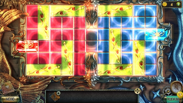 двигаем плитки и выводим согласно цветности в игре тьма и пламя 3 темная сторона