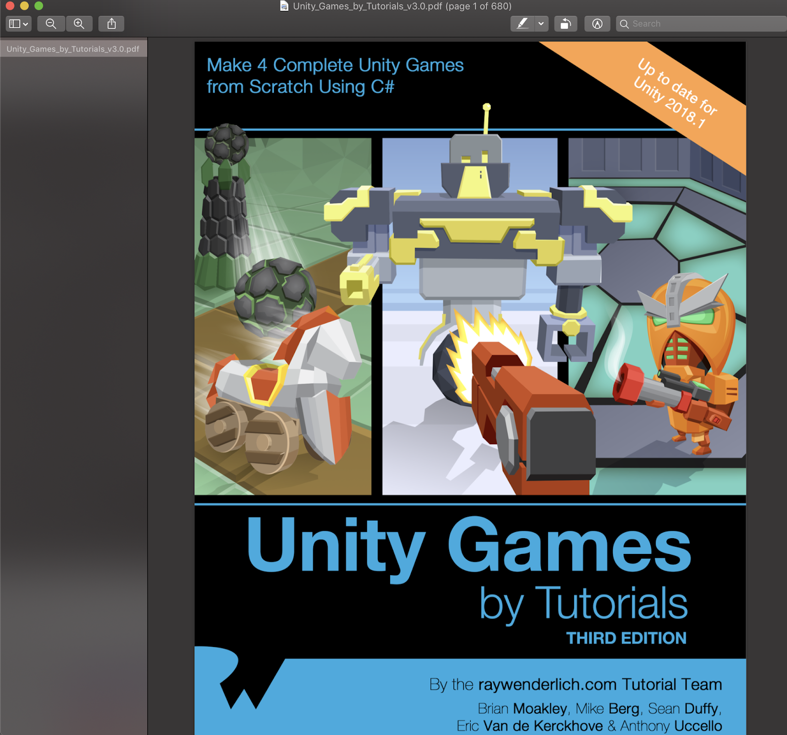 Download Unity Games By Tutorials Third Edition Make 4 complete