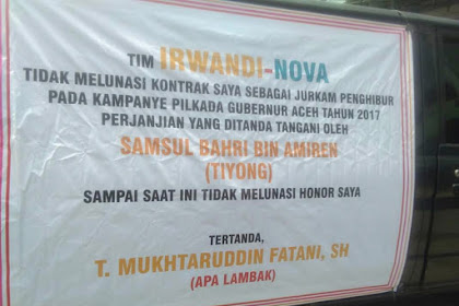 Ka 3 Gö Puasa, Honor Apa Lambak Gohlom Jipeulunaih Lé Tim Irwandi-Nova