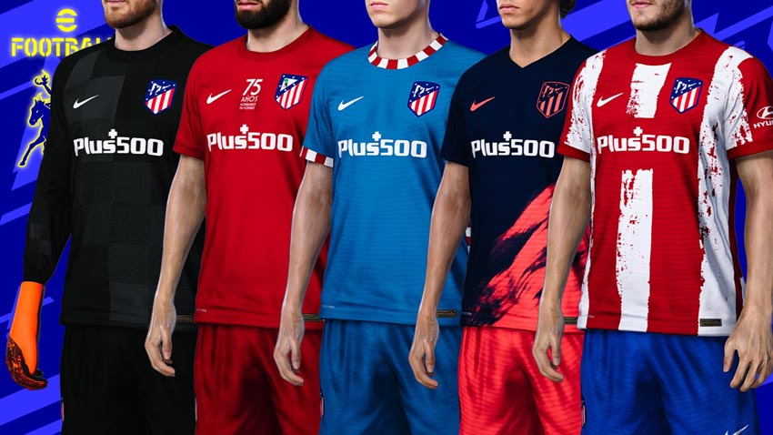 Atlético Madrid 2021-2022 Kits For eFootball PES 2021