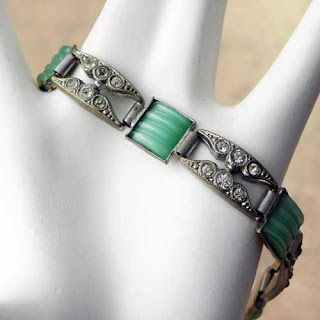 Art Deco bracelet unsigned in silver