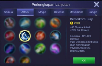 item untuk critical hero claude mobile legends