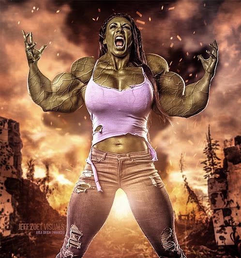 She-Hulk muscle morph