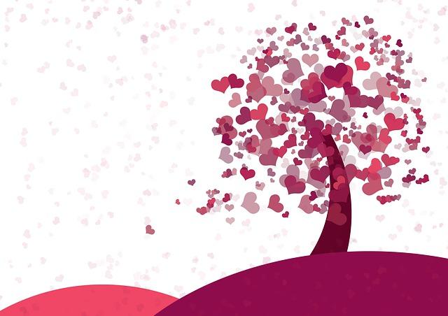 Ilustrasi Gambar indahnya jatuh cinta