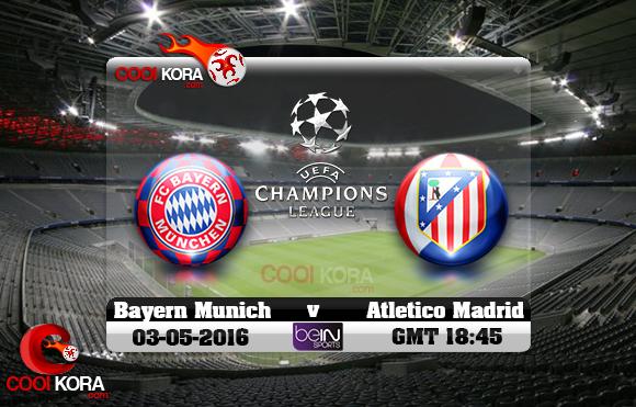 مشاهدة مباراة بايرن ميونخ وأتلتيكو مدريد اليوم 3-5-2016 في دوري أبطال أوروبا