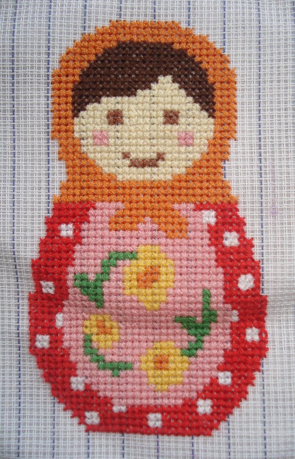 Cupcake Cutie Free Babushka Cross Stitch Pattern
