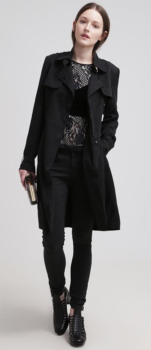 Trench-coat femme Mint&berry noir