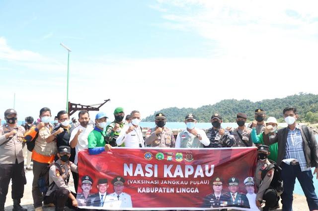 Nasi Kapau Polres Lingga Jangkau Desa Pekajang.