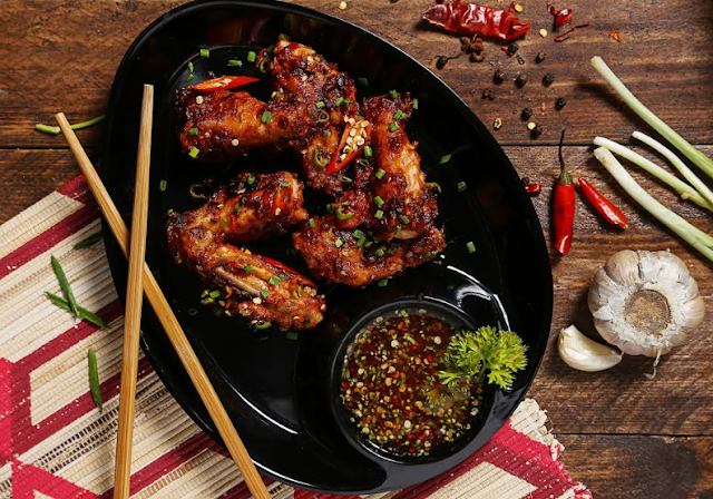 Fiery Schezwan Wet wings