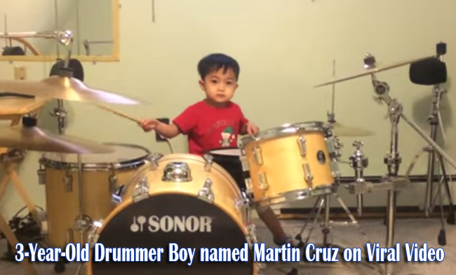 Watch the Three Year Old Drummer Boy named Martin Cruz on Viral Video