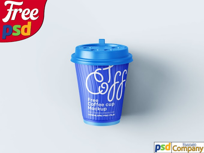 Download Free Paper Coffee Cup PSD Mockup #3