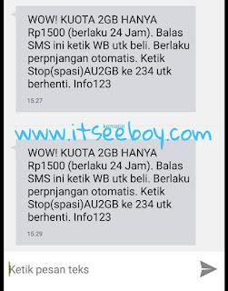 Paket Murah Kartu Tree 2 GB cuma 1500