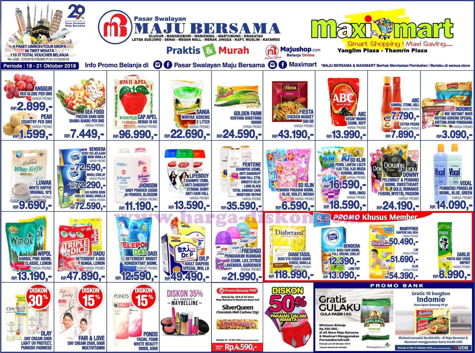 Katalog Promo KJSM Maximart Terbaru Akhir Pekan Periode 18 – 21 Oktober 2018