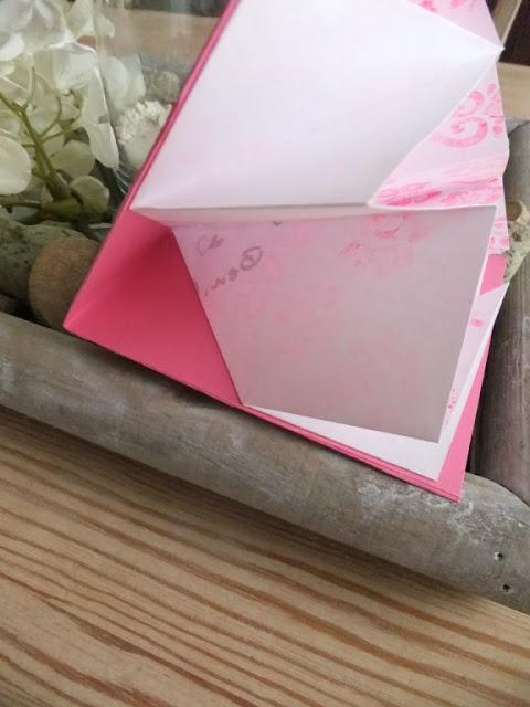 Geburtstagskarte falten in pink