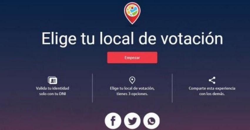 ELECCIONES 2021: Elige tu local de votación cerca a tu domicilio - www.onpe.gob.pe