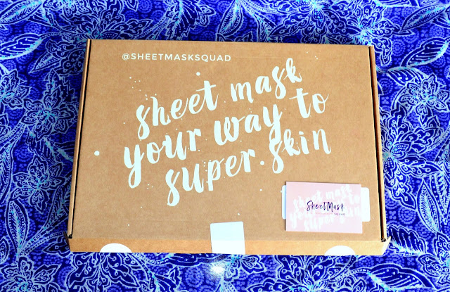 Sheet mask squad beauty box