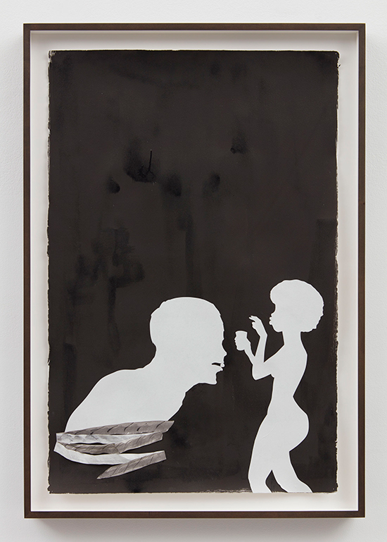 Kara Walker  Bitter Pill, 2017 Chine collé, collage, and mixed media on paper 102.2 x 67.3 x 3.2 cm