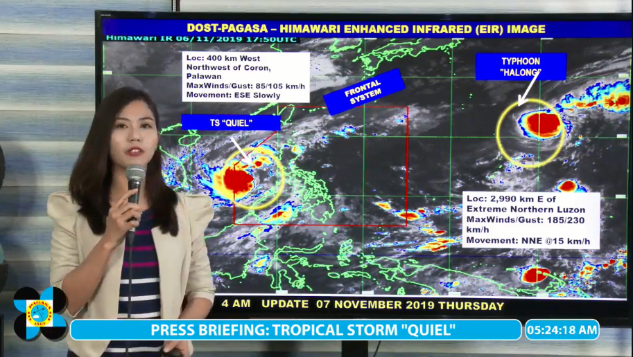 PAGASA gives update on Tropical Storm Quiel and Typhoon Halong