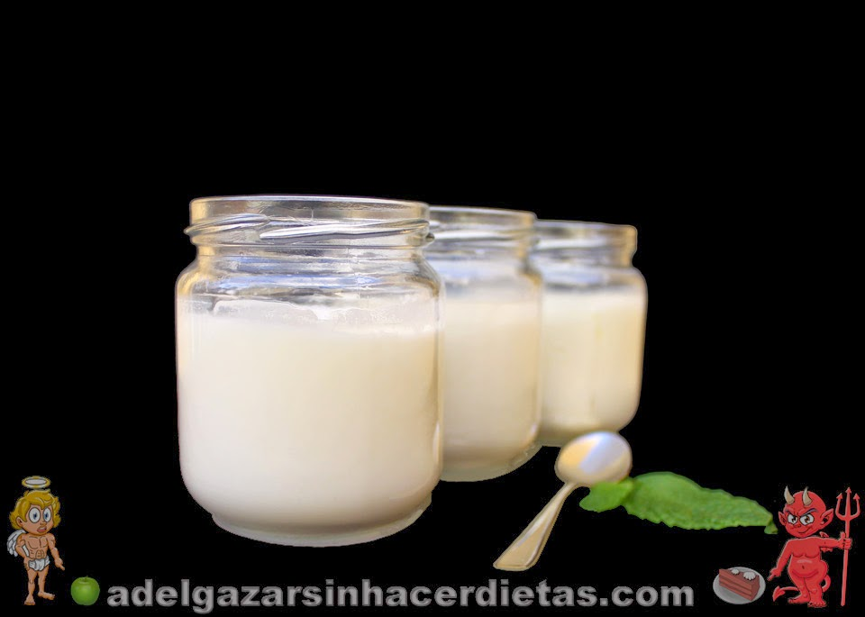 Yogur natural y de plátano caseros. La leche que le proporcionamos al yogur al igual que los plátanos sabemos que son naturales, de los que venden ya hechos no sabemos su procedencia ni elaboración, ya que suelen tener conservantes y colorantes. La diferencia de sabor de los caseros es abismal, son muy sencillos de hacer y una vez que los pruebas ya no quieres otros.