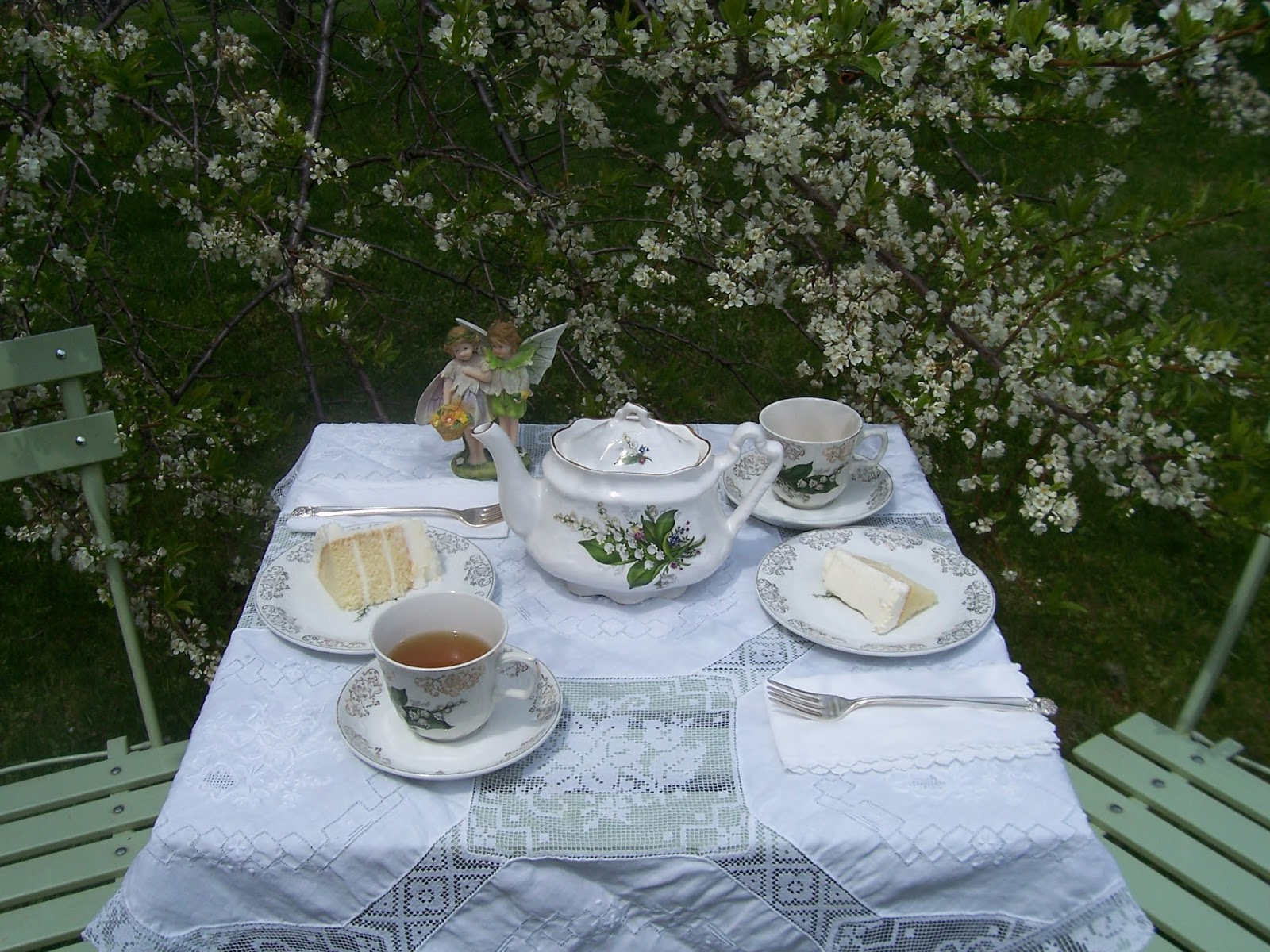 Two Cottages And Tea Tea Under The Plum Tree