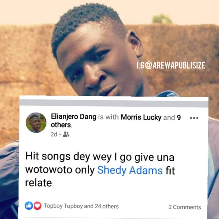 [E-News] I get Songs Woto woto - Elian jero brags about his come back #Arewapublisize