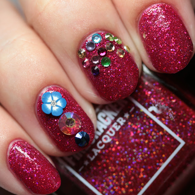 Firecracker Lacquer Stop and Smell the Blossom nail jewels