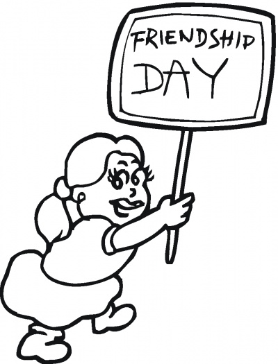Friendship Day Coloring Pages | Holiday Coloring Pages