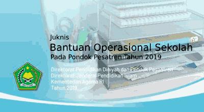 Download Juknis BOS Pada Pondok Pesantren Tahun 2019