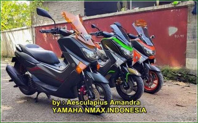 Yamaha Nmax Indonesia Cara Modifikasi Yamaha Nmax Hitam Doff Tampak Kekar Dan Sangar Terbaru Keren banget