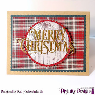 Stamp/Die Duo: Home For Christmas Custom Dies: Book Fold Card with Layers, Rectangles, Scalloped Rectangles, Circles, Scalloped Circles, Merry Christmas Caps Pattern Paper: Rustic Christmas