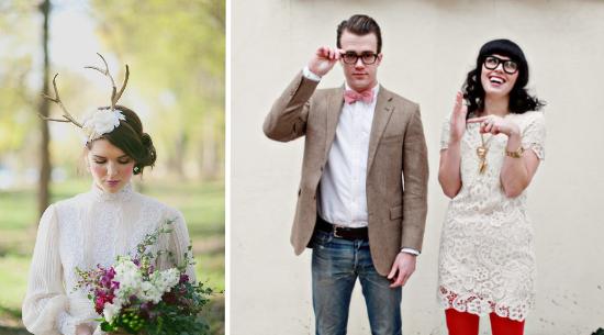 Hipster bride, hipster wedding