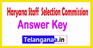 Haryana HSSC SEPO Panchayat Officer Answer Key 2017
