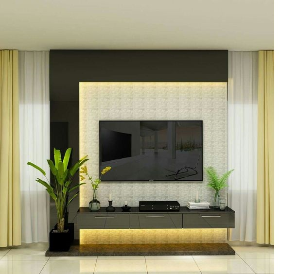 +55 Modern TV wall units for living rooms - Wooden TV ...