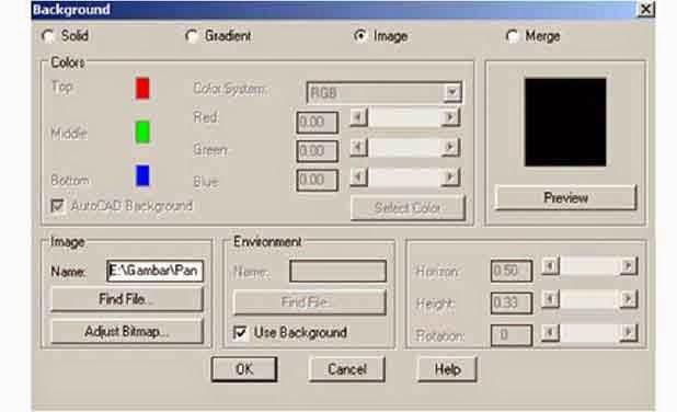 Memberi Background Pada Obyek Gambar 3 Dimensi AutoCAD ...