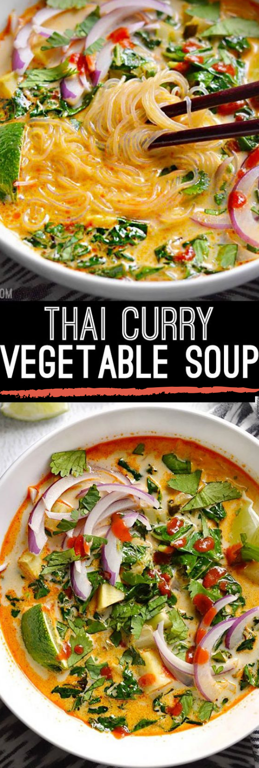 THAI CURRY VEGETABLE SOUP #vegetable #soup