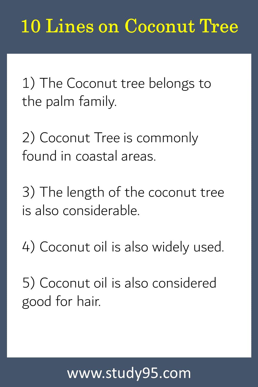 Lines on Coconut Tree