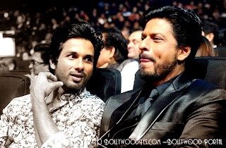 SRK_and_Shahid_IIFA Awards 2013 In Macau