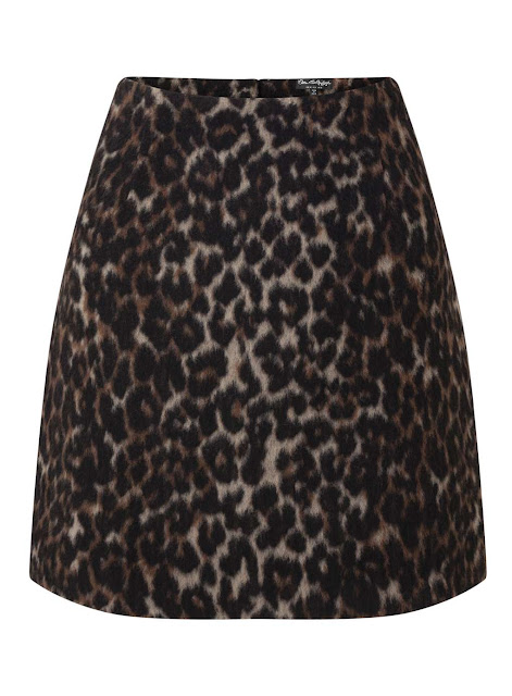 Leopard mini skirt Miss Selfridge