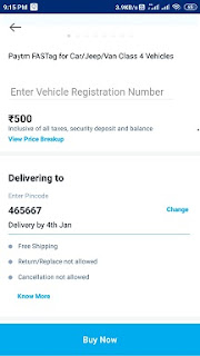 Paytm fastag installetion, use, recharge,and charges