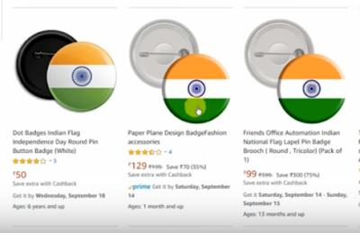 badges selling on amazon