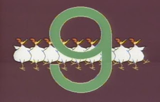 The name of the song Nine Chickens. Sesame Street The Great Numbers Game