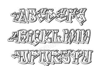15 Schöne Graffiti Schrift Abc Leicht
